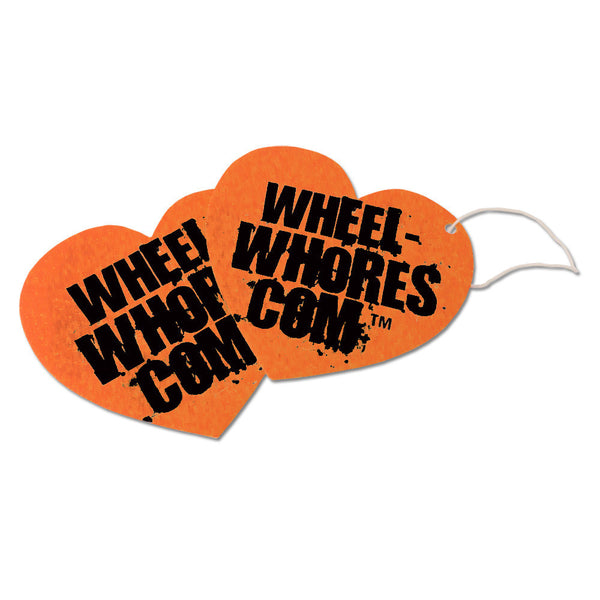 Air Freshener Heart ORANGE - Wheel Whores Italia