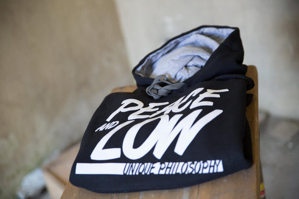 "Felpa con cappuccio ""Peace and Low"" - Peace and Low Petrolhead Clothing"