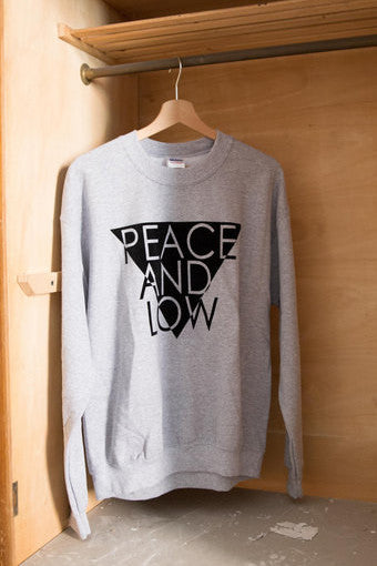 "Felpa Sweatshirt ""Peace and Low"" Triangolo - Peace and Low Petrolhead Clothing"