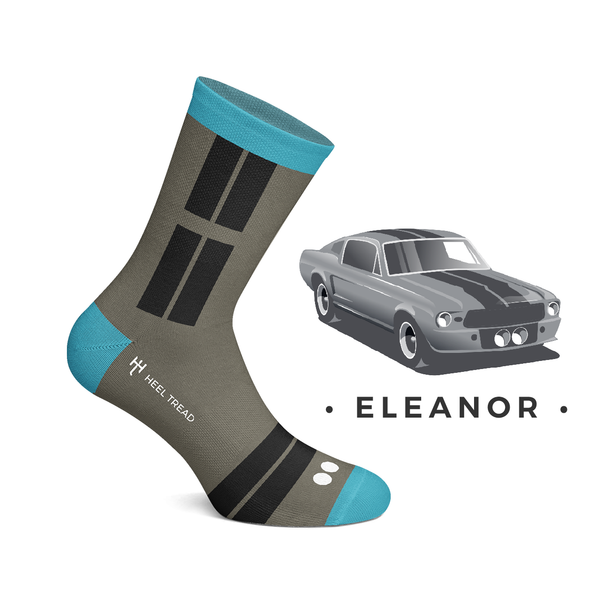 Calze Socks Eleanor Mustang Shelby GT500- Heel Tread