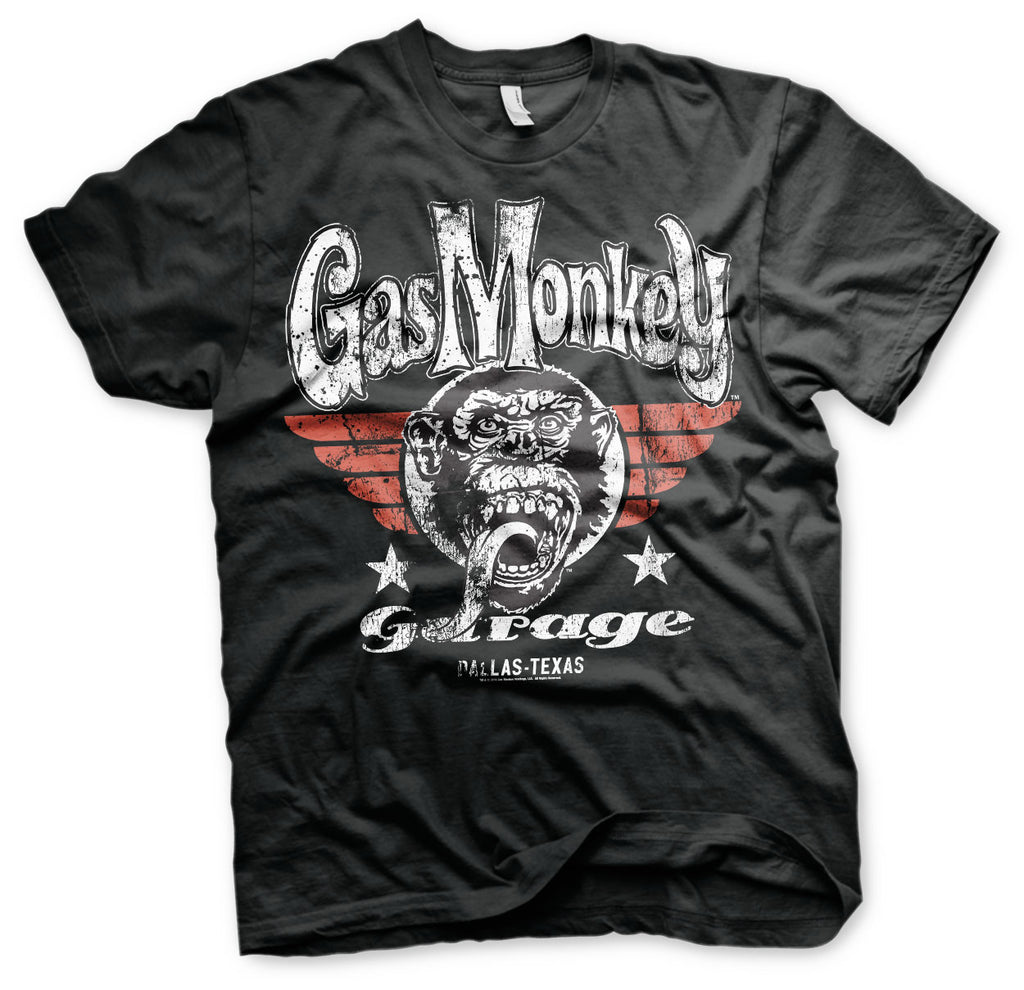 T-shirt Gas Monkey Garage GMG Flying High Black - Kustom & American Brands