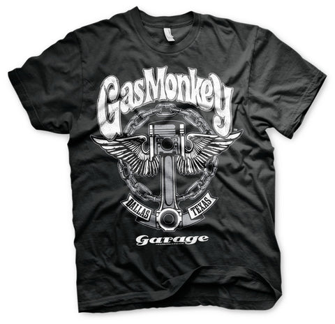 T-shirt Gas Monkey Garage GMG Big Piston Black - Kustom & American Brands
