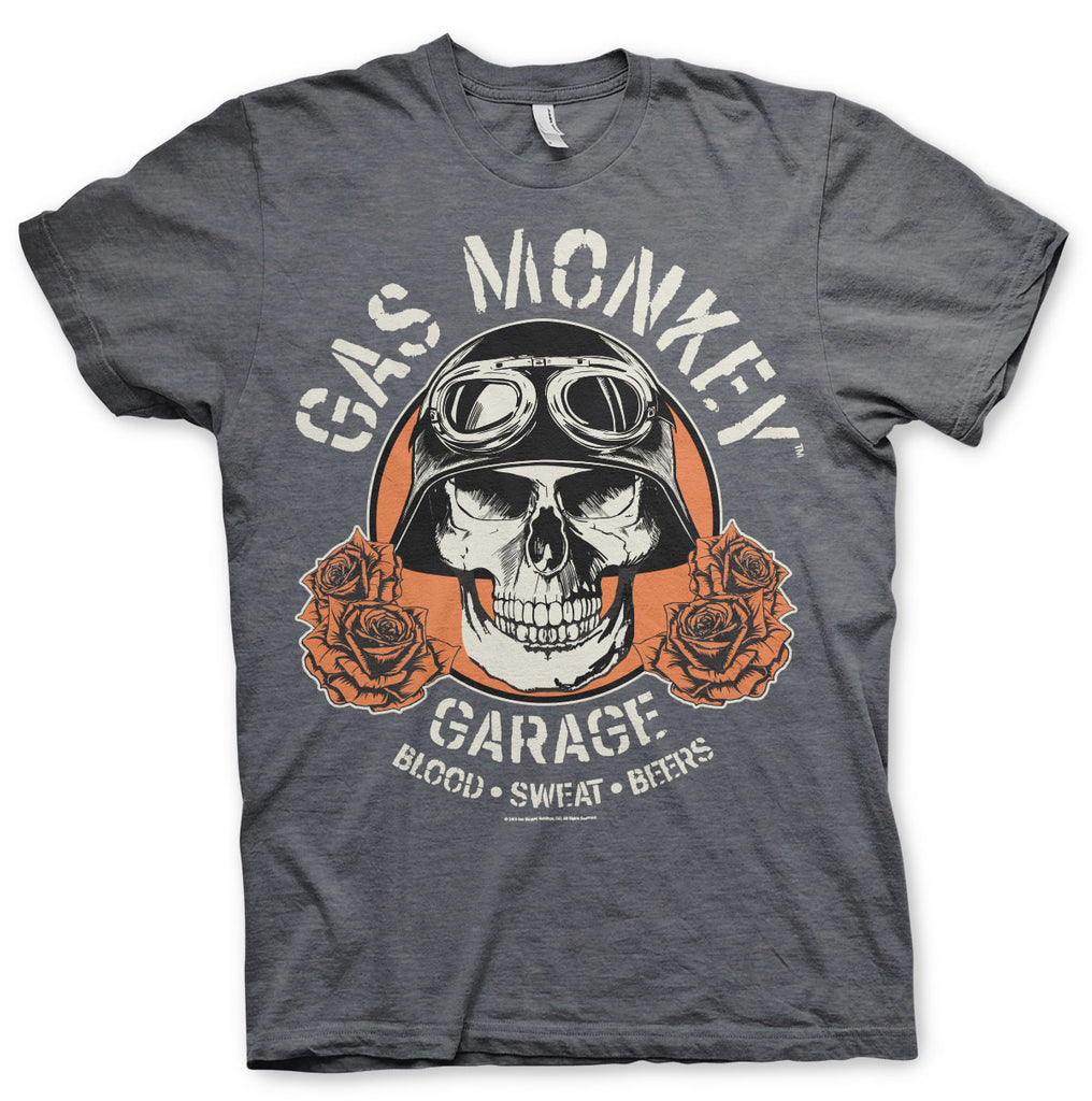 T-shirt Gas Monkey Garage Skull - Kustom & American Brands