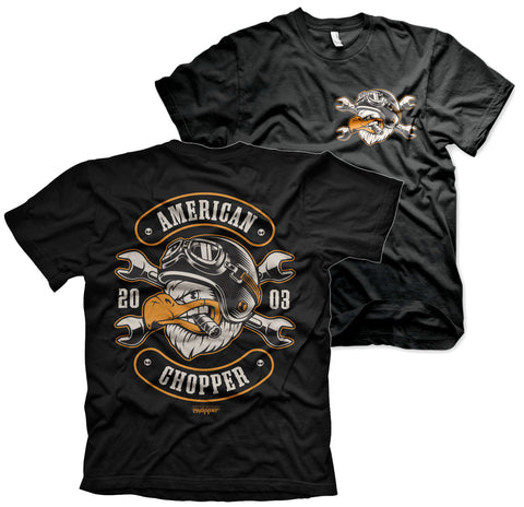 T-shirt American Chopper - Cigar Eagle Black - Kustom & American Brands