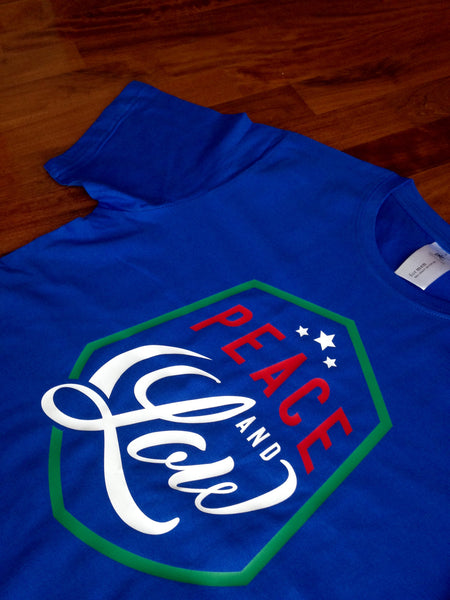 "EDIZIONE LIMITATA Tshirt ""Peace and Low"" Mod.Scudo - Un1que Apparel & Gears"