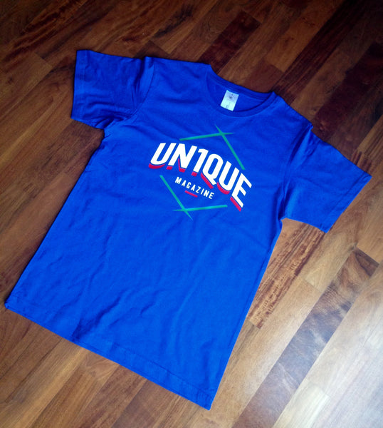 "EDIZIONE LIMITATA Tshirt ""UN1QUE Magazine"" Mod.Rombo - Peace and Low Petrolhead Clothing"