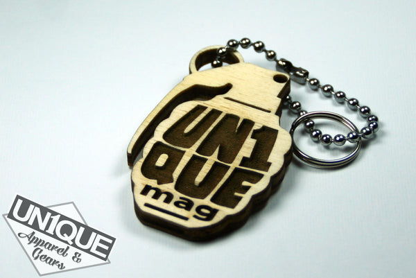 "Portachiave in legno, Wood Keyrings ""BOMB"" - Peace and Low Petrolhead Clothing"