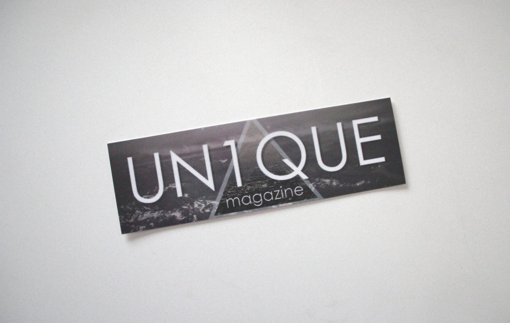 "Adesivo Sticker ""UN1QUE"" Triangle - Peace and Low Petrolhead Clothing"