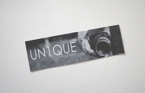 "Adesivo Sticker ""UN1QUE"" Photograph Old - Peace and Low Petrolhead Clothing"