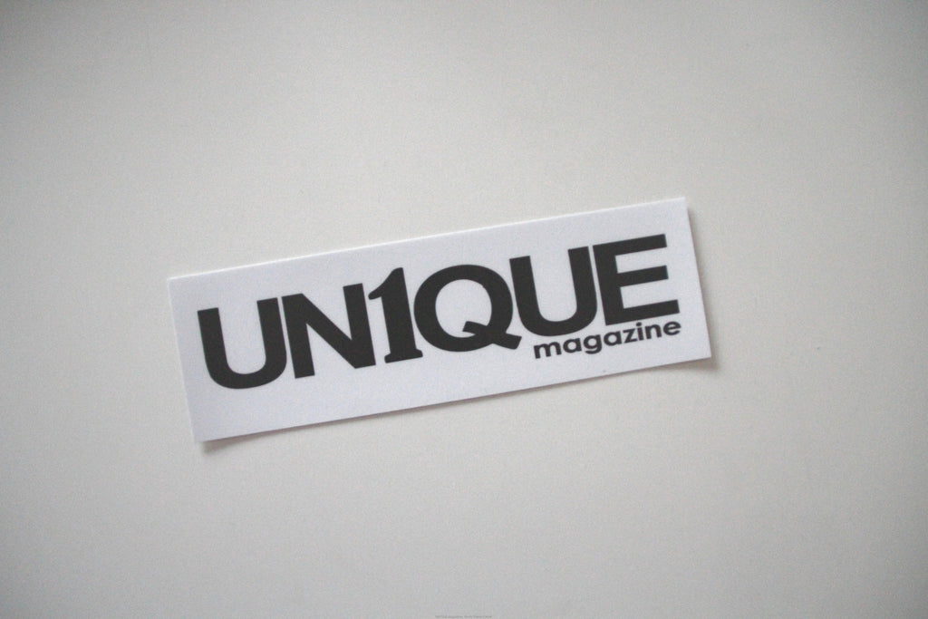 "Adesivo Sticker ""UN1QUE"" - Peace and Low Petrolhead Clothing"