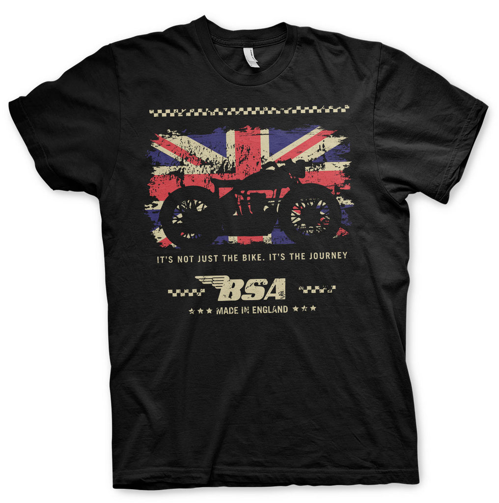T-shirt B.S.A. Motor Cycles - The Journey Black - Kustom & American Brands