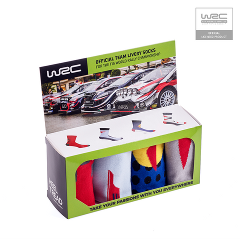 Calze Socks WRC Official Team Livery Pack - Heel Tread