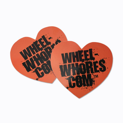 Adesivo Sticker Heart ORANGE Wheel Whores Italia
