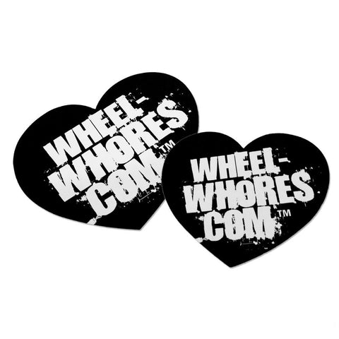 Adesivo Sticker Heart BLACK Wheel Whores Italia