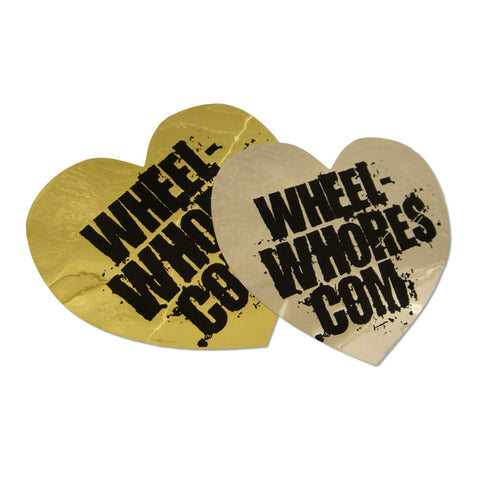 Adesivo Sticker Heart VIP CROMO - GOLD  Wheel Whores Italia
