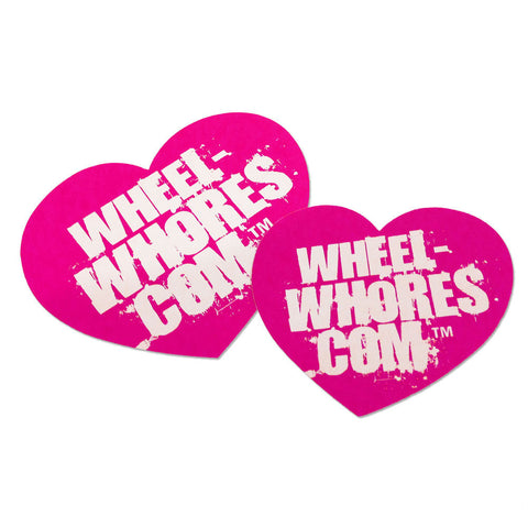 Adesivo Sticker Heart PINK Wheel Whores Italia