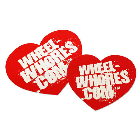 Adesivo Sticker Heart RED Wheel Whores Italia