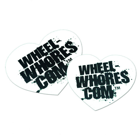 Adesivo Sticker Heart WHITE Wheel Whores Italia