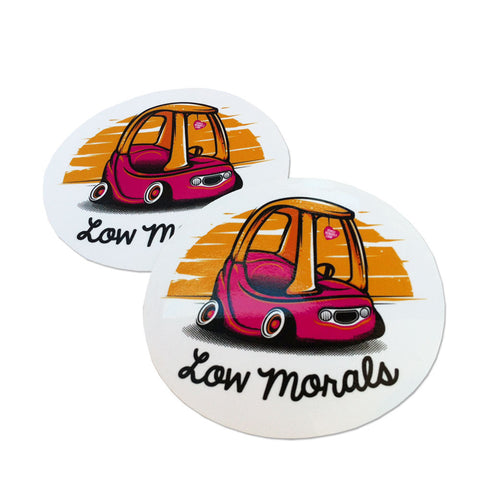 Adesivo Sticker Low Morals - Wheel Whores Italia