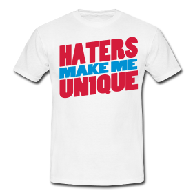 "Tshirt ""Haters Make Me UN1QUE "" - Peace and Low Petrolhead Clothing"