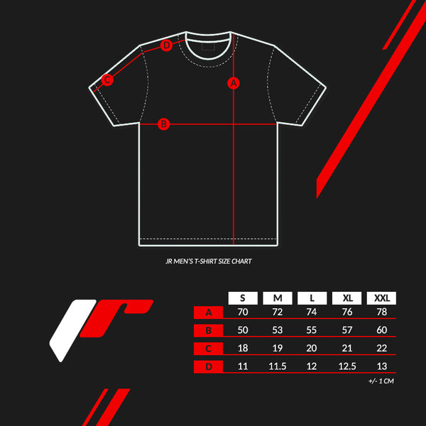 T-shirt JR-18 Laurel Black - JR Japan Racing Apparel