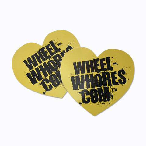 Adesivo Sticker Heart YELLOW Wheel Whores Italia