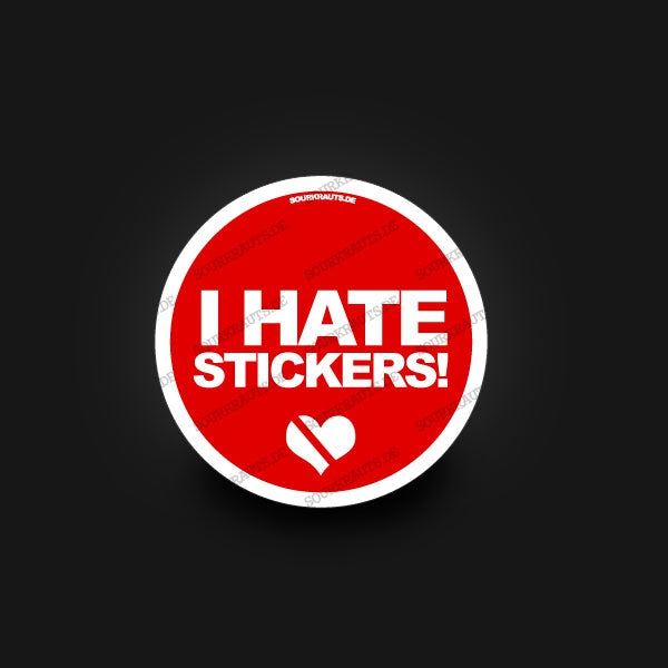 Adesivo I Hate Stickers Sticker - Sourkrauts