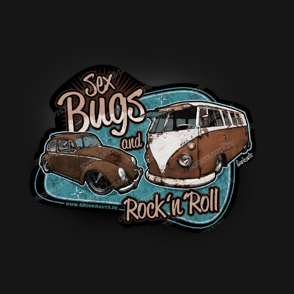 Adesivo Sex Bugs Rock n Roll Sticker - Sourkrauts