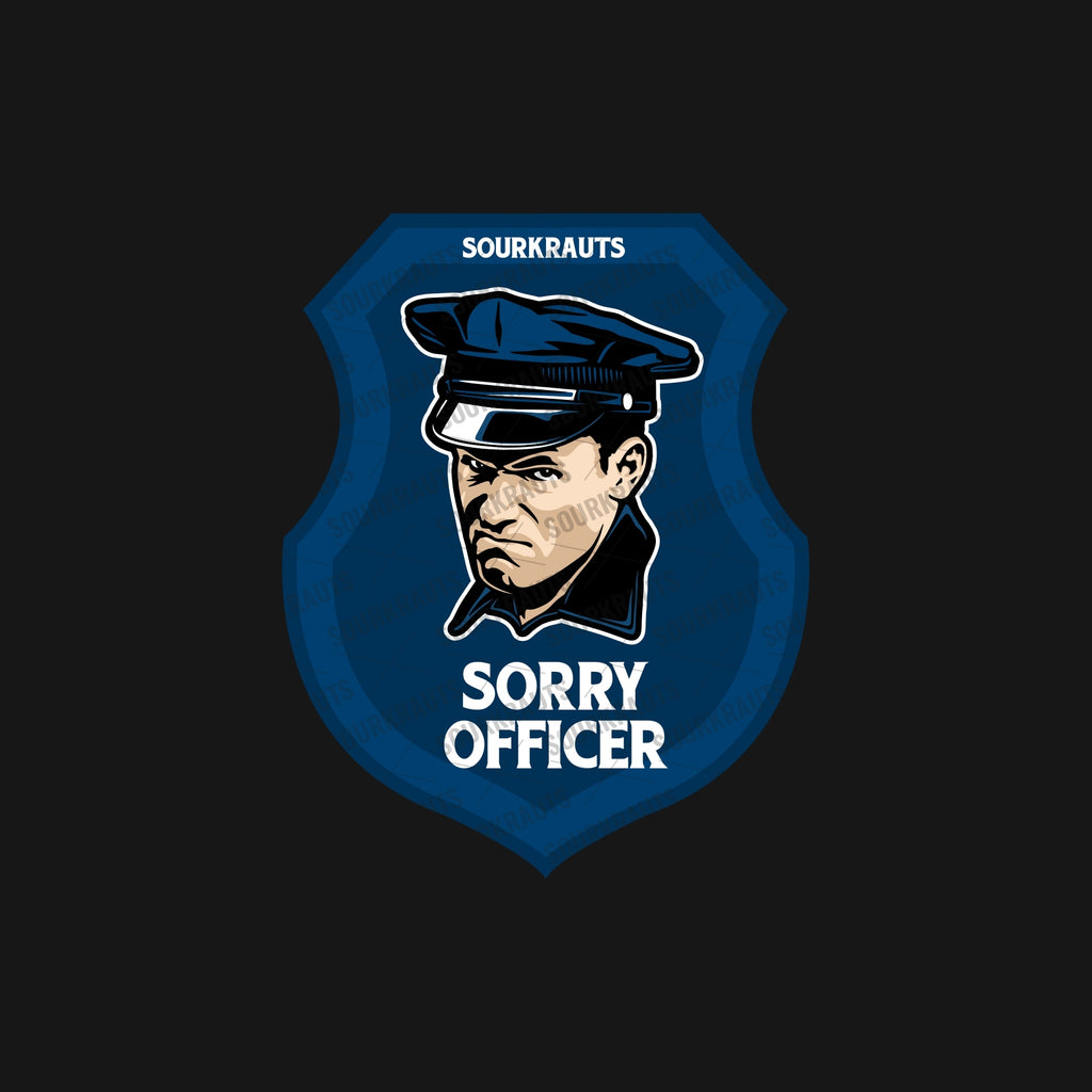 Adesivo Sorry Officer Sticker - Sourkrauts