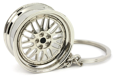 Cerchio Wheel LM Chrome Cromo Portachiavi Keyrings - Car Keychains