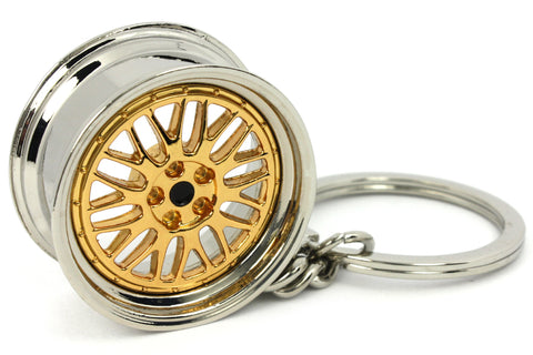 Cerchio Wheel BBS LM Gold Oro Portachiavi Keyrings - Car Keychains