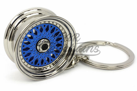 Cerchio Wheel BBS RS ver.2 Blue Blu Portachiavi Keyrings - Car Keychains