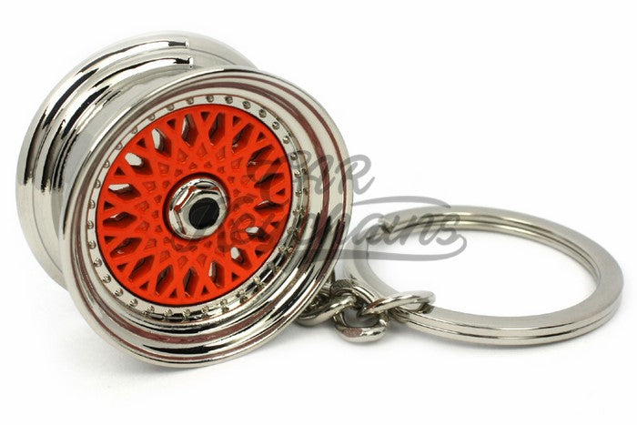 Cerchio Wheel BBS RS ver.2 Orange Arancio Portachiavi Keyrings - Car Keychains