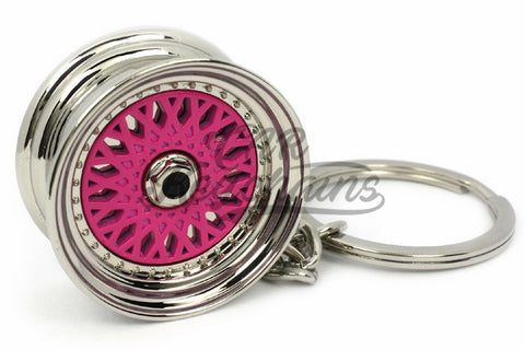 Cerchio Wheel BBS RS ver.2 Pink Rosa Portachiavi Keyrings - Car Keychains