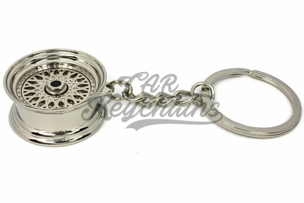 Cerchio Wheel BBS RS ver.2 Chrome Cromo Portachiavi Keyrings - Car Keychains