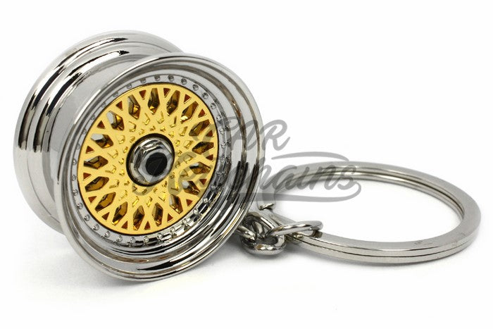 Cerchio Wheel BBS RS ver.2 Gold Oro Portachiavi Keyrings - Car Keychains
