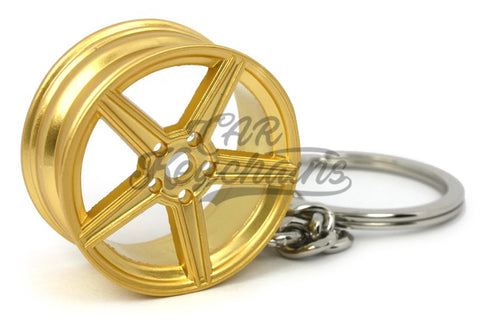 Cerchio Wheel MB Gold Oro Portachiavi Keyrings - Car Keychains