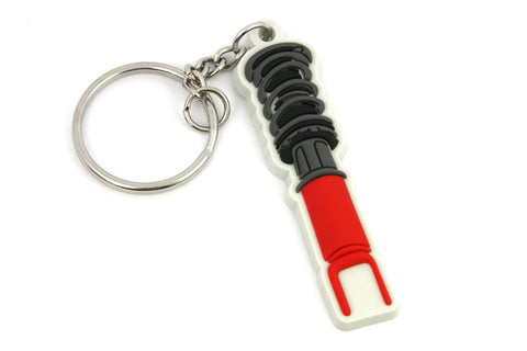 Ammortizzatore Ghiera in Silicone PVC Coilover on Silikon Portachiavi Keyrings - Car Keychains