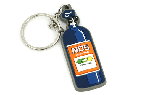 NOS Bottle Silikon Portachiavi Keyrings - Car Keychains