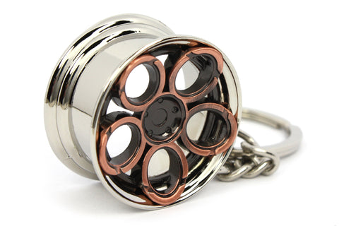 Cerchio Wheel LR2 Bronzo Bronze Portachiavi Keyrings - Car Keychains