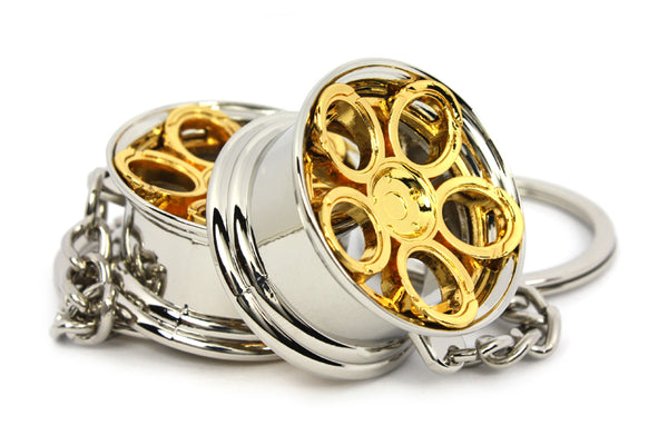 Cerchio Wheel LR2 Oro Gold Portachiavi Keyrings - Car Keychains