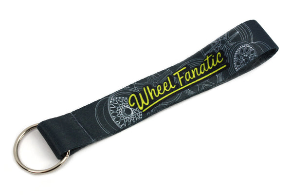 "Short Lanyard ""Wheel Fanatic"" Portachiavi in Tessuto Keyrings - Car Keychains"