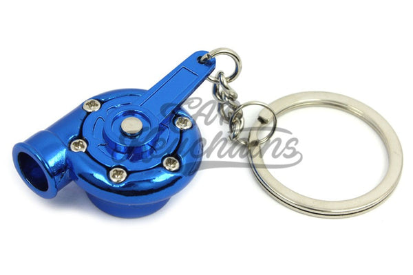 Turbina Blue Chrome Portachiavi Keyrings - Car Keychains