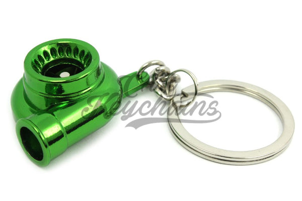 Turbina Verde Green Chrome Portachiavi Keyrings - Car Keychains