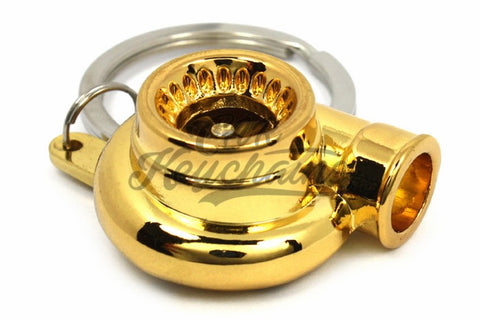Turbina Gold Oro Chrome Portachiavi Keyrings - Car Keychains