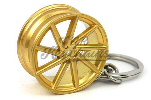 Cerchio Wheel CVT Gold Oro Portachiavi Keyrings - Car Keychains