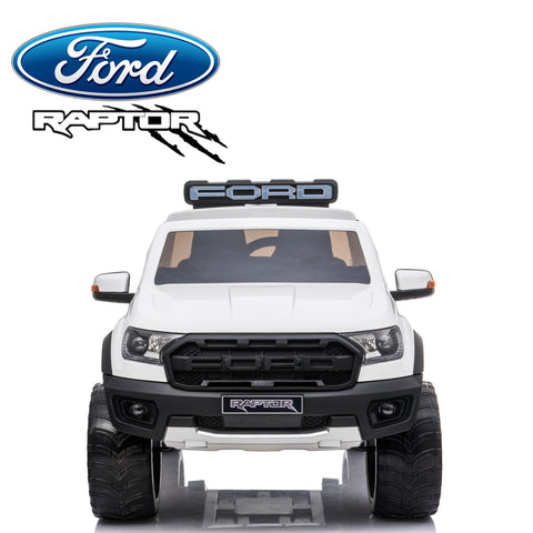 *NEW*  White Ford Raptor  - 2 seater kids ride on car rubber tyres