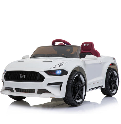 12V Mustang replica kids muscle ride on car white