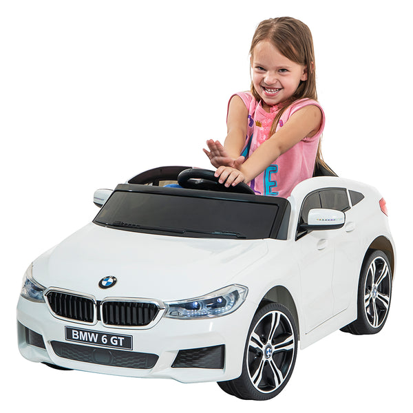 12V BMW GT Kids ride on car-WHT