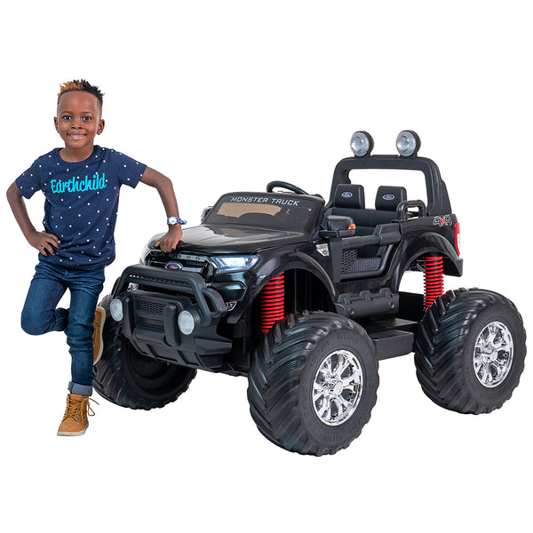 24V Ford Monster truck kids ride on car (Black) ride on car, 4 Wheel drive and Rubber tyres